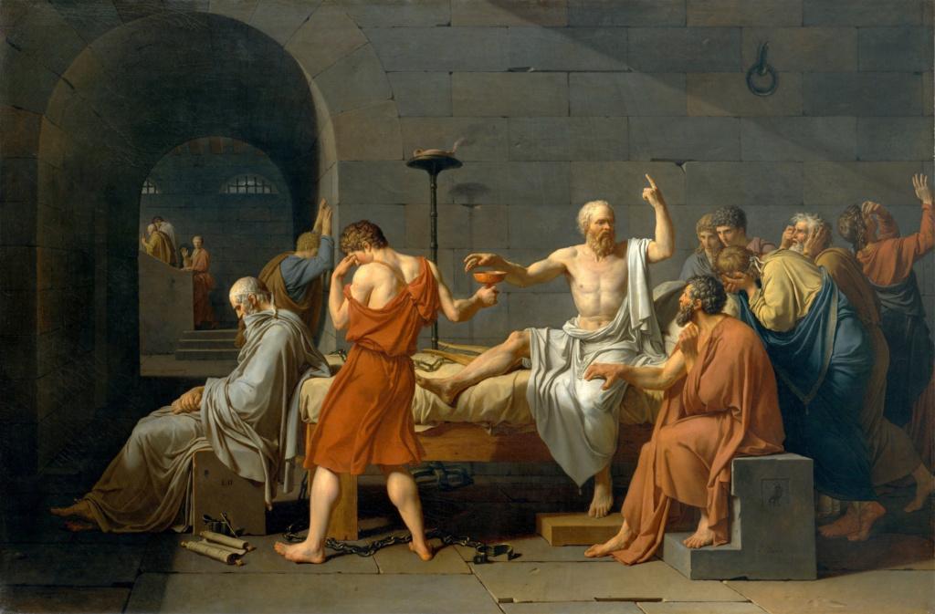 Смерть Сократа — холст, созданный французским мастером — Жаком-Луи Давидом.